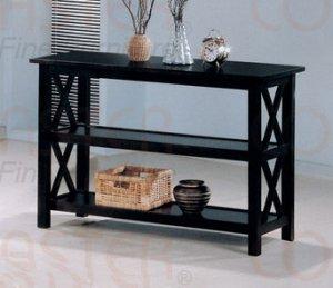 Modern Cappuccino Wood Hall Way Sofa Console Table