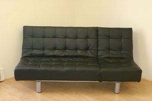 Modern Leather Multi Position Futon Sofa Bed Sleeper