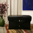 Faux Leather Modern Ottoman & Bench Set Footstool