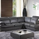 605 Modern Genuine Italian Leather Sectional Sofa Couch