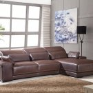 5908 Genuine Italian Leather Sectional Sofa Couch New