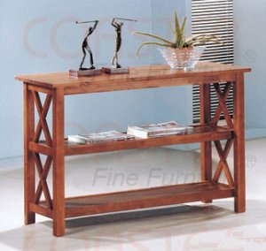 Modern Oak Wood Side Hall Way Sofa Console Table Accent