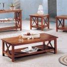 Modern Oak Coffee Table & Side End Tables 3 Piece Set
