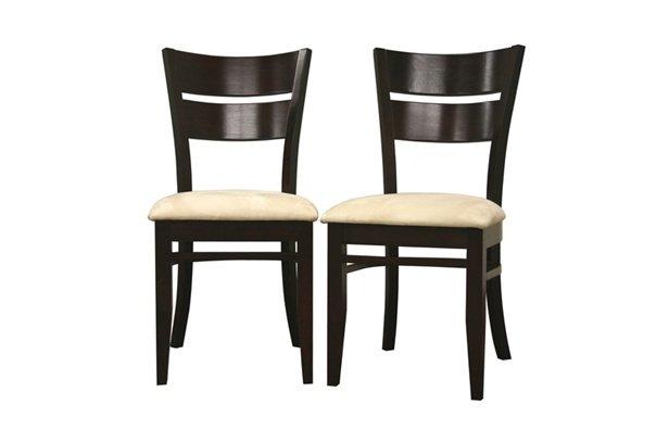 modern dark brown wood veneer dining room chair set new