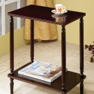 Traditional Queen Anne Storage Display Stand with Shelves Accent Table