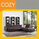 Luxurious Suede-Like Chocolate Brown Sectional