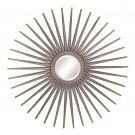 CONTEMPORARY ACCENT WALL MIRRORS SUN SHAPED MIRROR IN ANTIQUE SILVER BY COZY™