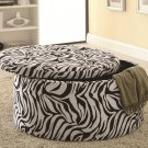 ZEBRA PRINT TUFTED ACCENT OTTOMANS SEAT WITH UNDERNEATH STORAGE BY COZY™