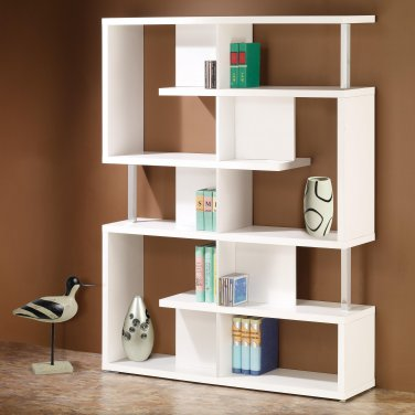 MODERN CONTEMPORARY BLACK OR WHITE WOODEN BOOK CASE BY COZY�