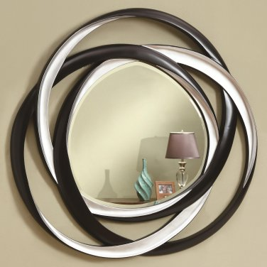 CONTEMPORARY ACCENT MIRRORS TWO TONE ACCENT MIRROR BY COZY�