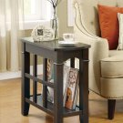 MODERN ACCENT CHAIR TABLE WITH MAGAZINE RACK IN CAPPUCCINO BY COZY™