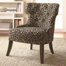 ACCENT SEATING CHAIR WITH SAFARI INSPIRED LEOPARD PRINT BY COZY™