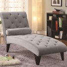 ACCENT SEATING TUFTED VELOUR CHAISE BY COZY™
