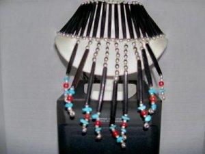 Female Bone Breast Plate W/ Turquoise -TBM-BBP-003