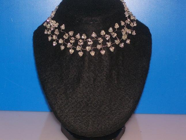 Diamond Shape Swarokvski Crystal Choker - TBM-SSC-001