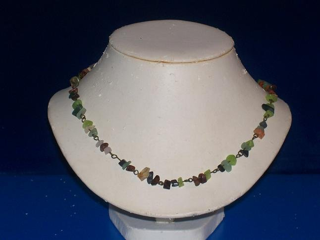 Mixture Of Gemstone Chips Necklace - TBM-GSN-014