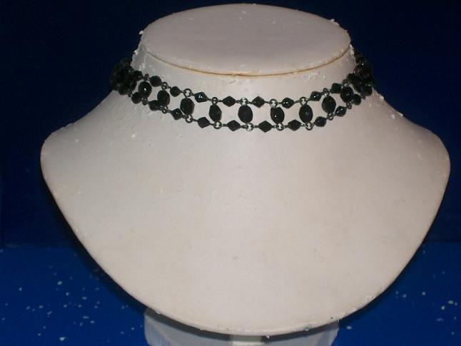 Black Austrian Crystals Choker   -   TBM-SCC-008