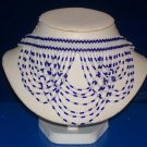 Pure White & Royal Blue Seed Beads - TBM-BBN-017