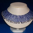 Choker Royal Blue Funnel Beads - TBM-BBN-018