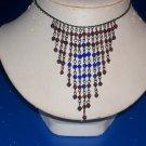 Necklace / Choker Amethyst & Blue Capri -TBM-SCNC-013