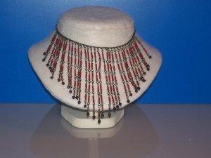 Necklace / Choker 3 mm Garnets -TBM-SCNC-014