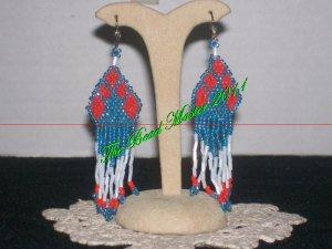 """Western Design Earrings  3"""" Long - TBM-BE-001"""