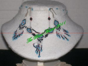Western Design Necklace & Earring Set - TBM-BNS-003