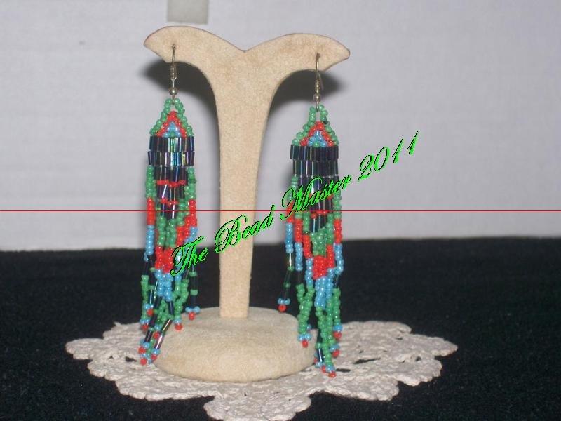 """Western Design Earrings  3.5"""" Long  -  TBM-BE-006"""