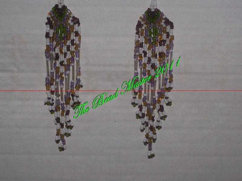 "Western Design Earrings  5"" Long - TBM-BE-009"