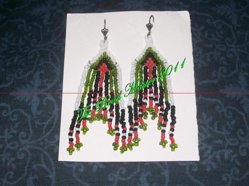 """Western Design Earrings  4"""" Long - TBM-BE-010"""