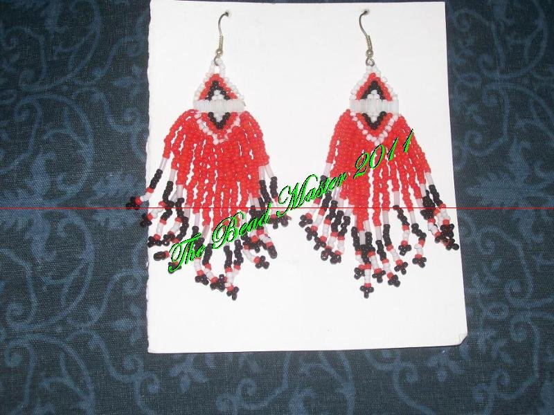 "Western Design Earrings 3.5"" Long  - TBM-BE-012"