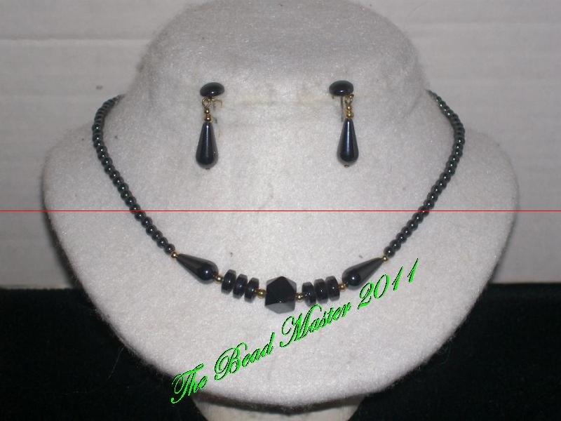 Hematite Necklace & Earring Set - TBM-NES-010