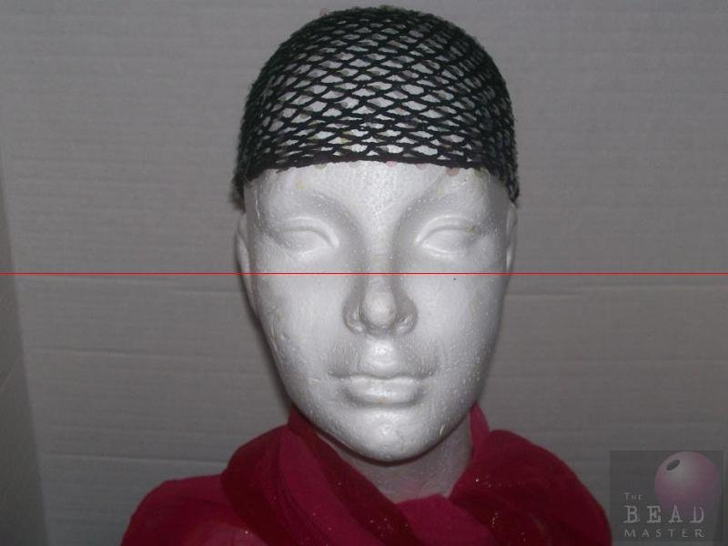 Hand Sequin Caps W/O Fringe - Black --- TBM-BHP-024