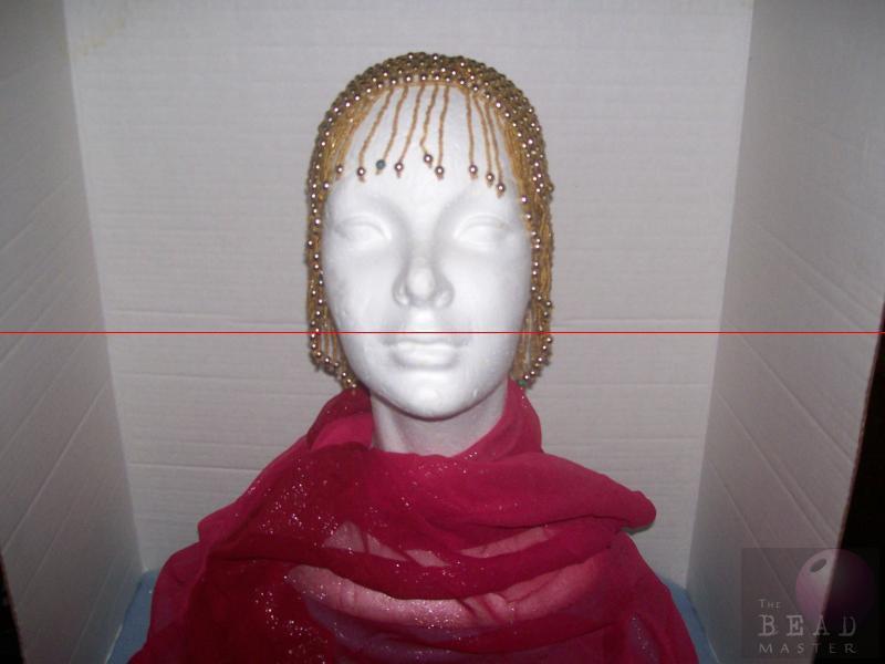 Beaded Caps - Gold --- TBM-HBP-028