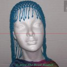 Hand Beaded Head Piece- Turquoise Blue - TBM-BHP-015