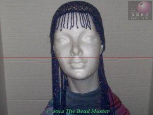 Long Hand Beaded Head Piece -Blue & Pink-TBM-BHP-040