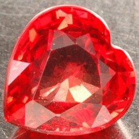 6 Carat 10mm PADPARADSCHAH (Orange Sapphire) Heart Shaped Hand Cut Gemstone
