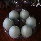 Egg votives - package of 6.  Fresh cut grass.