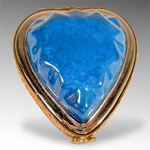 Porcelain Heart Trinket Box By Limoges