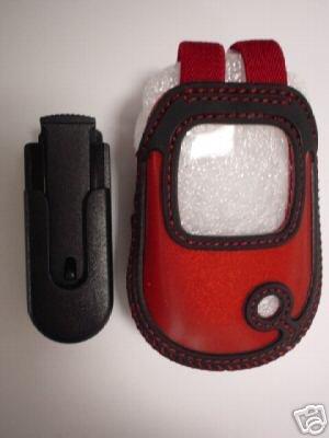 LG VX3450 VX 3450 RED/BK shell pouch Holster Flip Case
