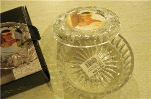 Studio Nova Heavy Glass Bowl with Picture Frame Lid NIB