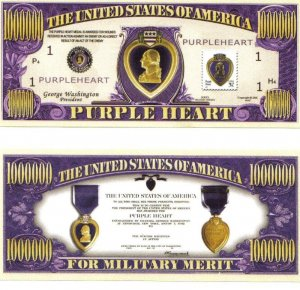 Purple Heart Commemorative Honorary Bill
