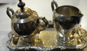 Oneida Silver Set with Tray