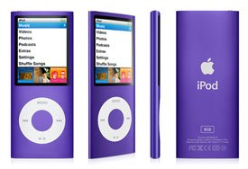 Apple Ipod nano 8GB 4th Generation - Purple - SOLD AS IS.  20% OFF!