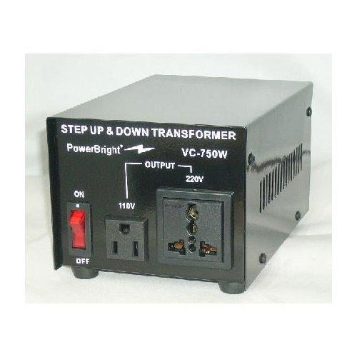 Power Bright VC750W Voltage Transformer 750 Watt Step Up/Down 110 Volt - 220 Volt - FREE SHIPPING!