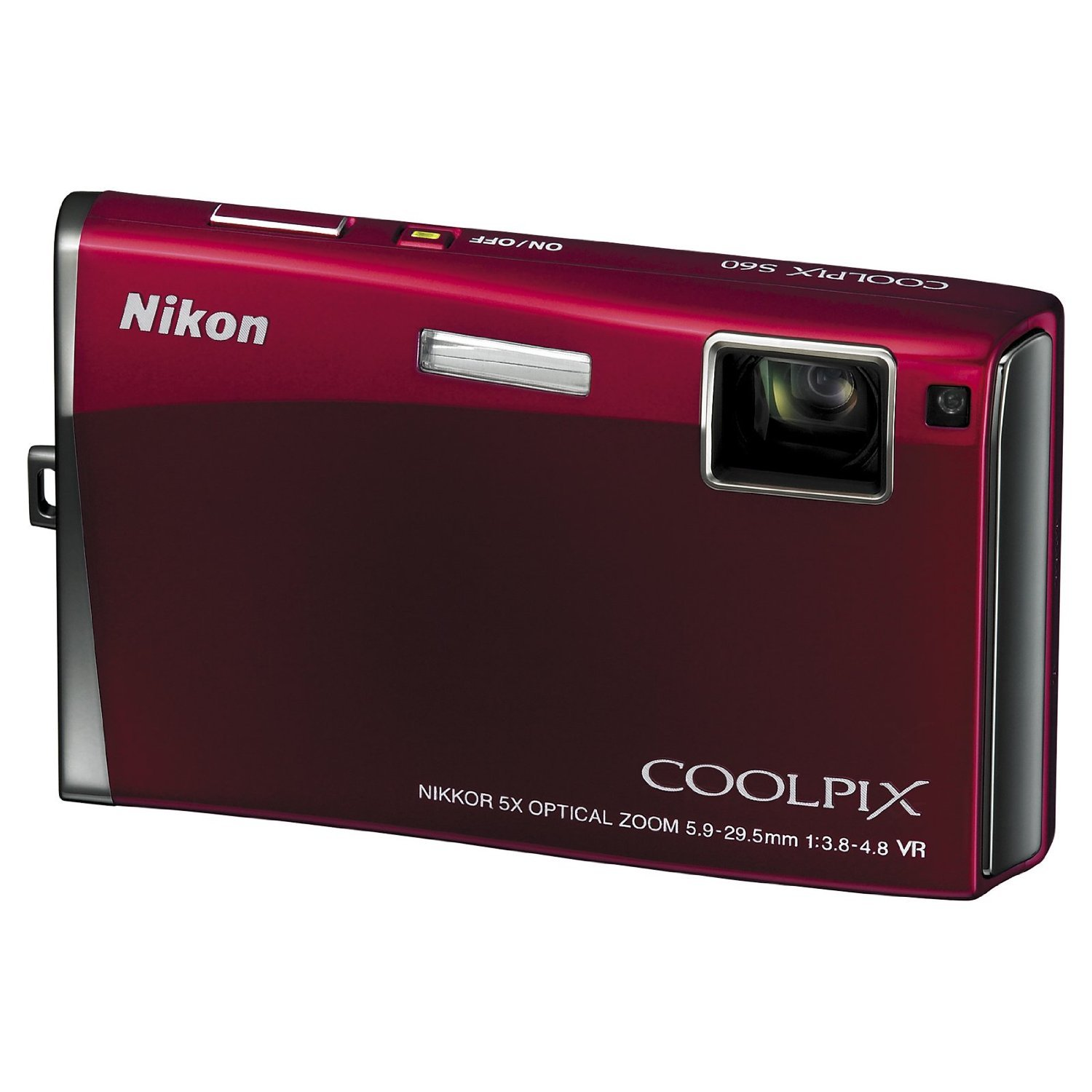 Nikon Coolpix S60 10MP Digital Camera with 5x Optical Vibration Reduction (VR) Zoom (Crimson Red)