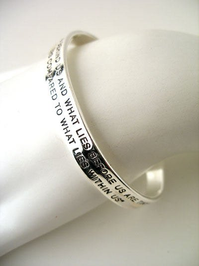 WHAT LIES BEHIND US WHAT LIES WITHIN US QUOTED BY RALPH EMERSON BRACELET