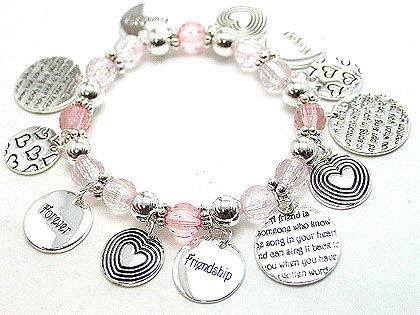 BEST FRIEND FRIENDSHIP CHARM BRACELET