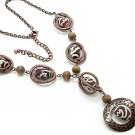 TIBETAN TIBETIAN SWIRL BEAD NECKLACE SET