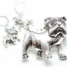 GEORGIA BULLDOG PENDANT BROOCH SET